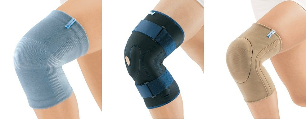 Виды коленных бандажей при артрозе